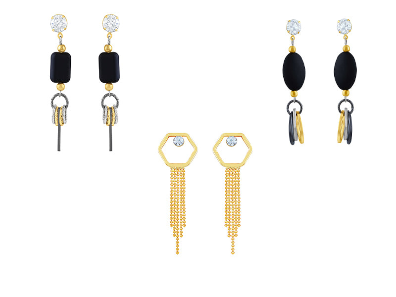 Asmitta Jewellery Gold Alloy Earring Combo - CB269