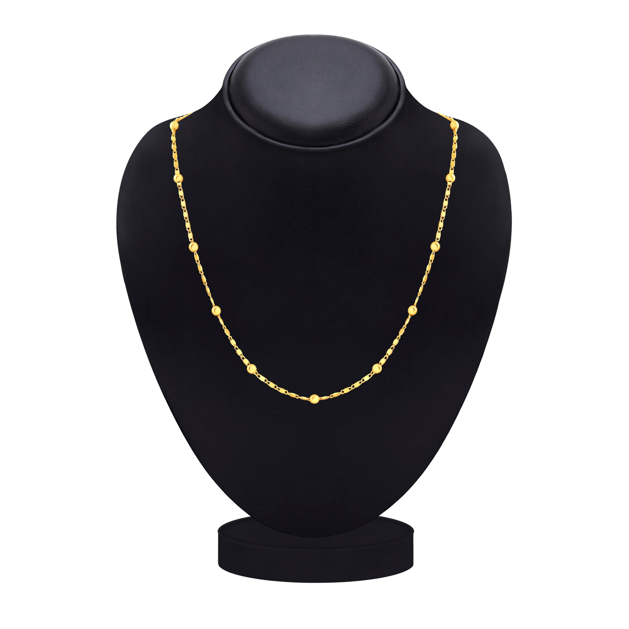Asmitta Youthful Party Wear Gold Plated Chain For Women & Girls