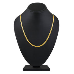 Asmitta Resplendent Party Wear Gold Plated Chain For Men