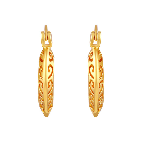 Asmitta Jewellery Gold Brass Hoop Earring - EB148