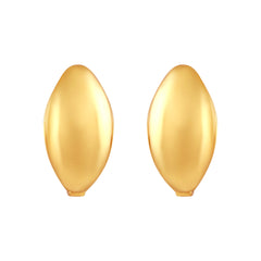 Asmitta Exquisite Kaju Shape Bali Hoop Gold Plated Earring For Women