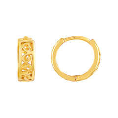 Asmitta Finely Bali Hoop Gold Plated Earring For Women