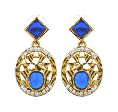 Asmitta Jewellery Blue Zinc Dangle Earring - ED106