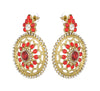 Asmitta Jewellery Red Zinc Dangle Earring - ED107