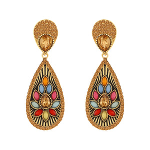 Asmitta Jewellery Gold Zinc Dangle Earring - ED111