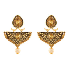 Asmitta Gorgeous Dangle Gold Plated LCT Stone Earring For Women