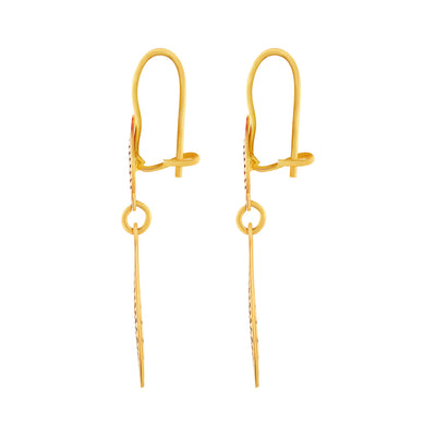 Asmitta Jewellery Gold Brass Huggie Earring  -ED127