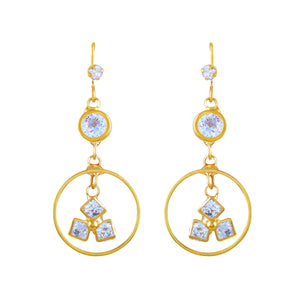 Asmitta Jewellery Gold Zinc Drops Danglers  -ED176