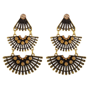 Asmitta Jewellery Gold Zinc Drops Danglers  -ED177