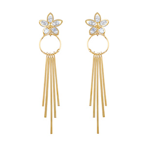Asmitta Jewellery Gold Zinc Drops Danglers  -ED182