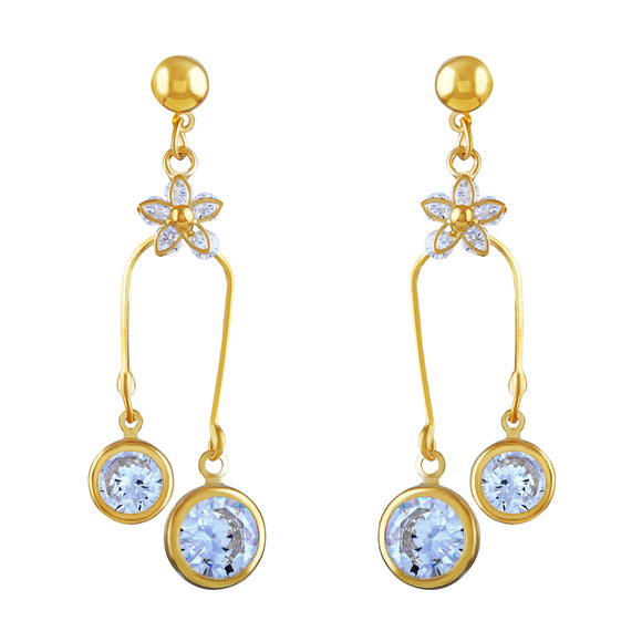 Asmitta Jewellery Gold Zinc Drops Danglers  -ED184