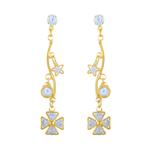 Asmitta Jewellery Gold  Earring Zinc Drops Danglers  -ED189