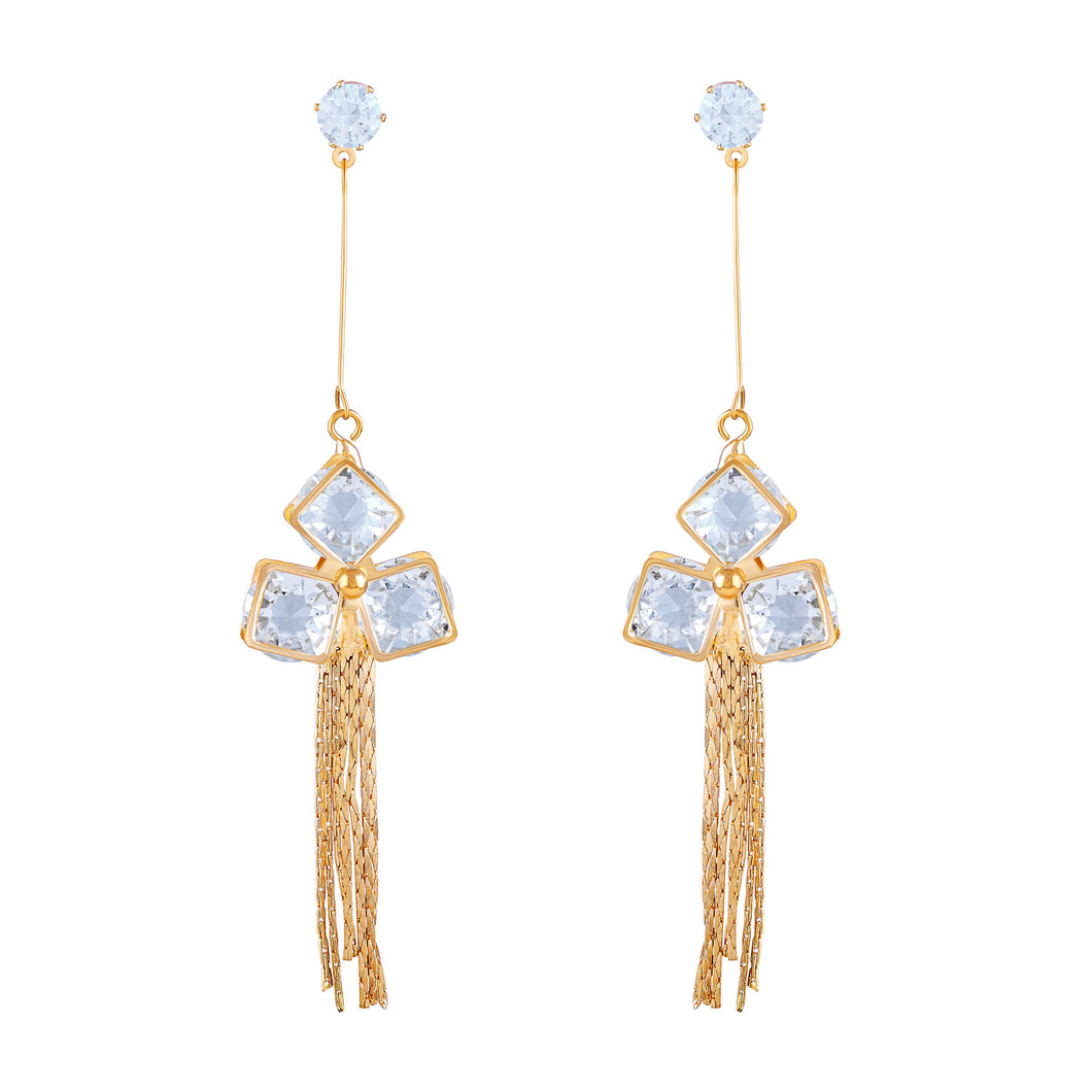 Asmitta Marquise Dangle Gold Plated Earring For Women