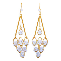 Asmitta Artistically Grapes Style Gold Plated Hanging Earring For Women