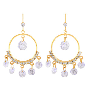 Asmitta Jewellery Gold Brass Dangle Earring - ED236