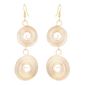 Asmitta Jewellery 2 Gold Alloy Drops Danglers  -ED265