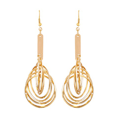 Asmitta Appealing Round Shape Gold Plated Drop Earring For Women