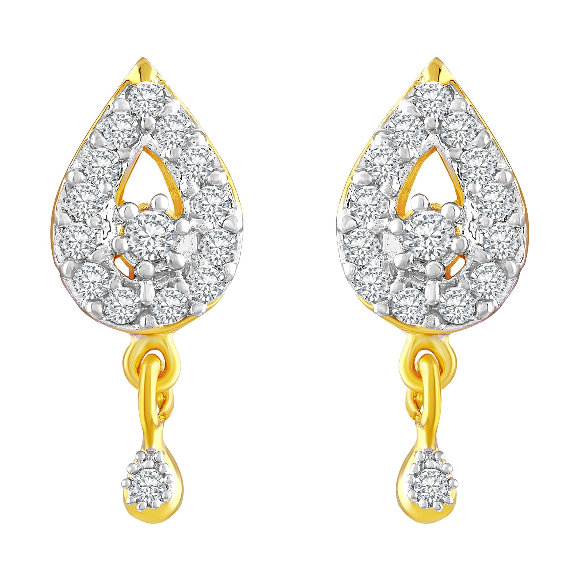 Asmitta Jewellery Gold Brass Dangle Earring - ED315