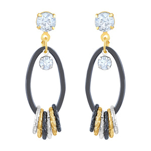 Asmitta Jewellery Gold  Earring Zinc Drops Danglers  -ED349