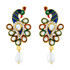 Asmitta Jewellery Gold Zinc Dangle Earring - ED401