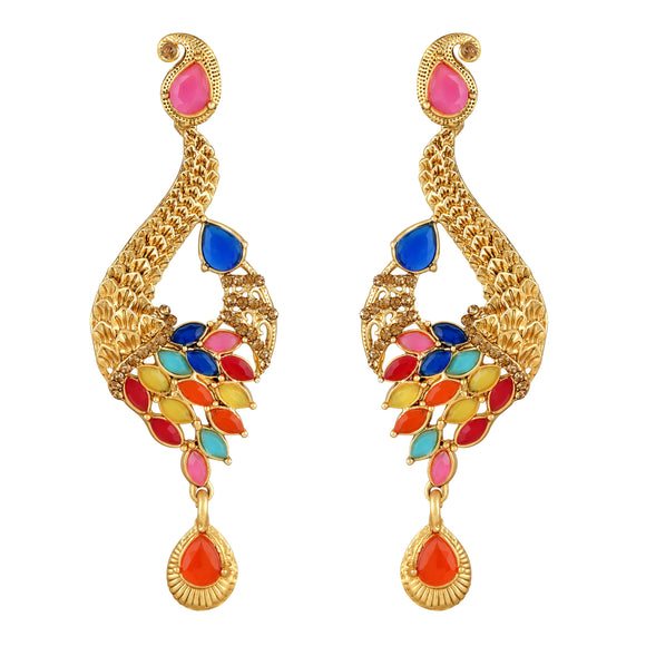 Asmitta Jewellery Gold Zinc Dangle Earring - ED414