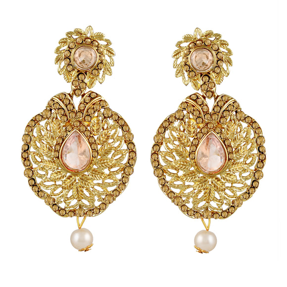 Asmitta Jewellery Gold  Earring Zinc Drops Danglers  -ED441