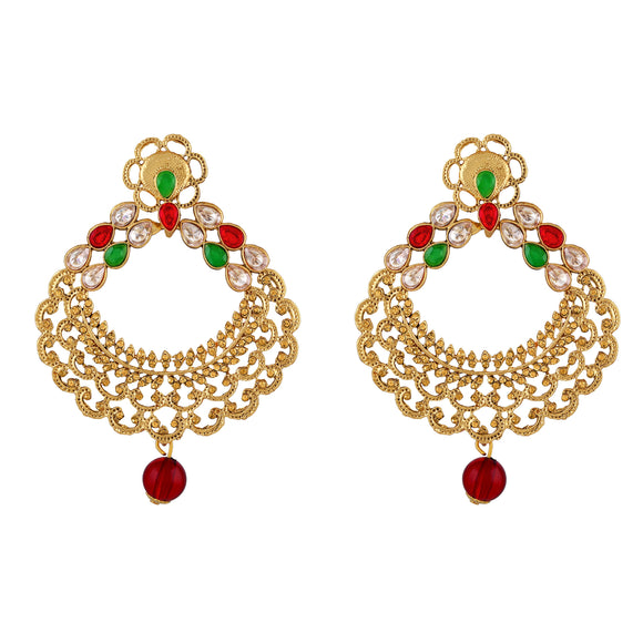 Asmitta Jewellery Gold  Earring Zinc Drops Danglers  -ED445