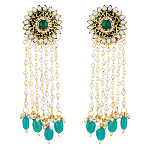 Asmitta Jewellery Gold  Earring Zinc Drops Danglers  -ED446