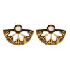 Asmitta Jewellery Gold Zinc Drops Danglers  -ED461