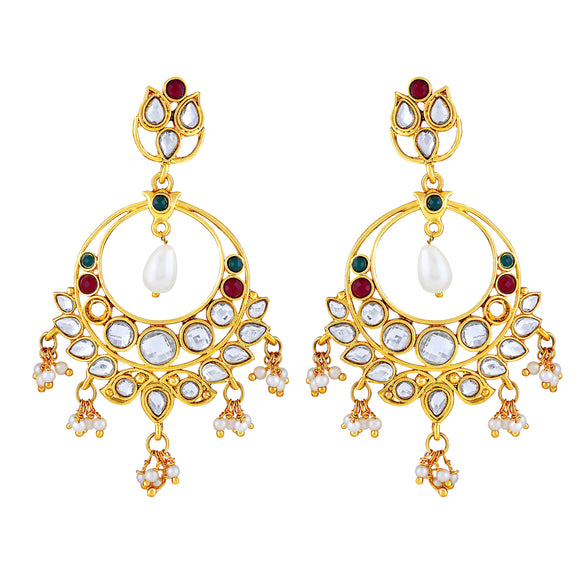 Asmitta Jewellery Gold Zinc Drops Danglers  -ED480
