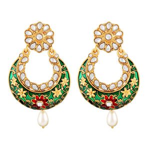 Asmitta Jewellery Gold  Zinc Drops Danglers  -ED485