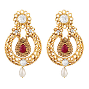 Asmitta Jewellery Gold Zinc Dangle Earring - ED490