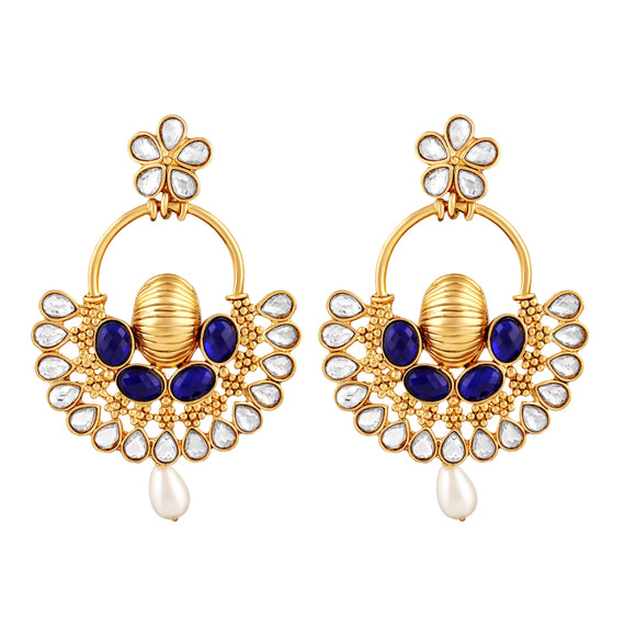 Asmitta Jewellery  Gold  Zinc Drops Danglers  -ED492
