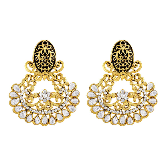 Asmitta Jewellery Gold  Zinc Drops Danglers  -ED498