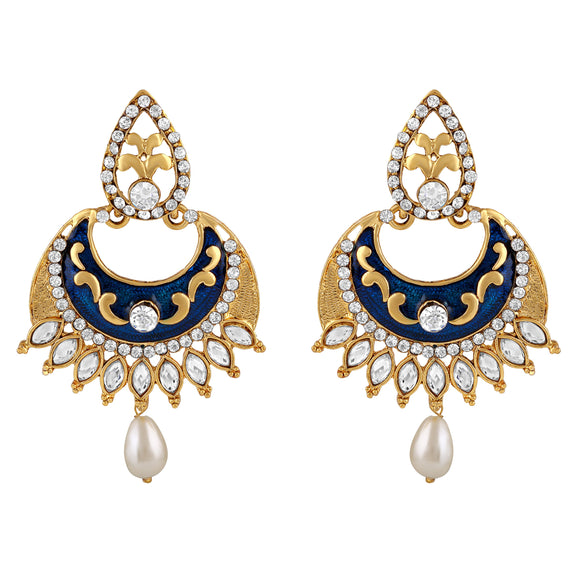 Asmitta Jewellery Gold Zinc Drops Danglers  -ED500