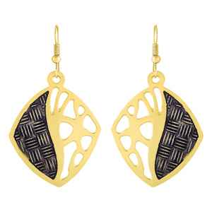 Asmitta Jewellery Gold  Brass Drops Danglers  -ED509