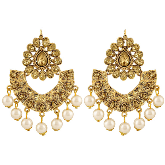Asmitta Jewellery Gold Zinc Dangle Earring - ED593