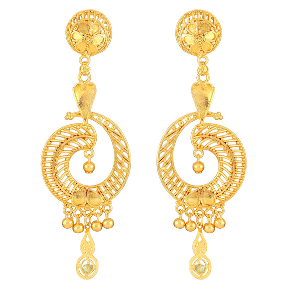 Asmitta Jewellery  Gold  Brass Drops Danglers  -ED620