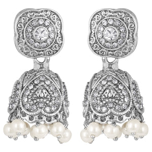 Asmitta Jewellery Silver Zinc Dangle Earring - ED627