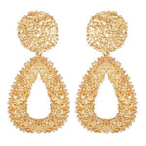 Asmitta Jewellery Gold Brass Drops Danglers  -ED665
