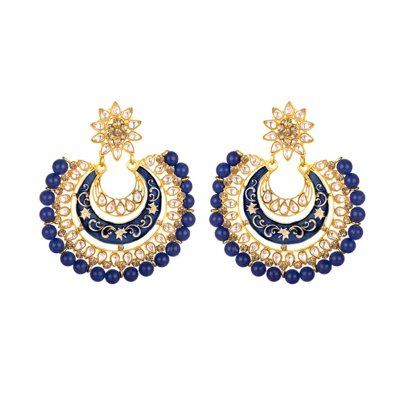 Asmitta Jewellery Blue Zinc Dangle Earring - ED693