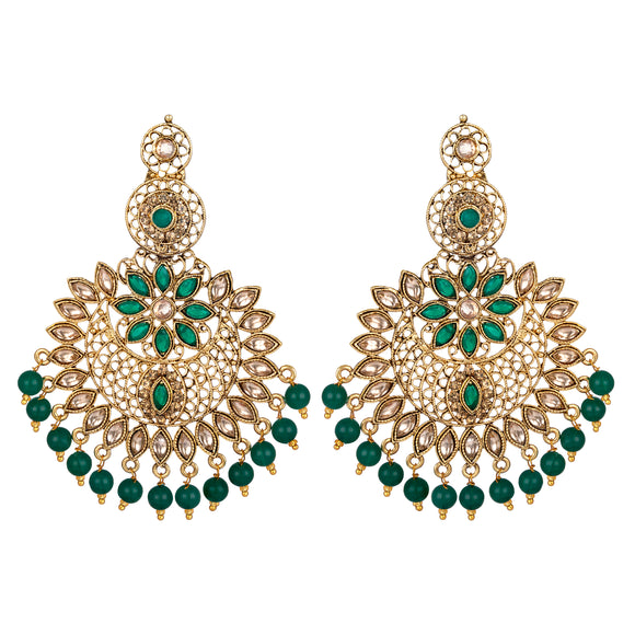 Asmitta Jewellery Green Zinc Dangle Earring - ED694