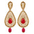 Asmitta Jewellery Red Zinc Dangle Earring - ED695