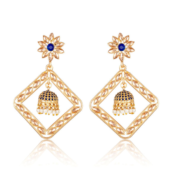 Asmitta Ethnic Square Shape Dangle/Jhumka Earring -ED724