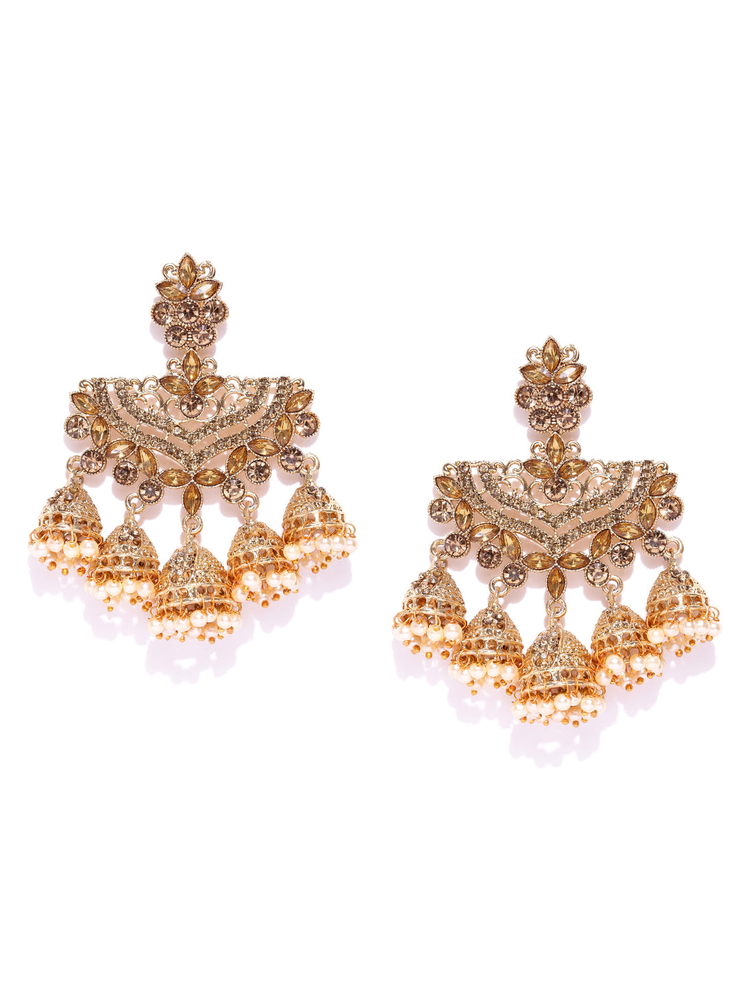 Asmitta Jewellery Gold Zinc Dangle Earring - ED737