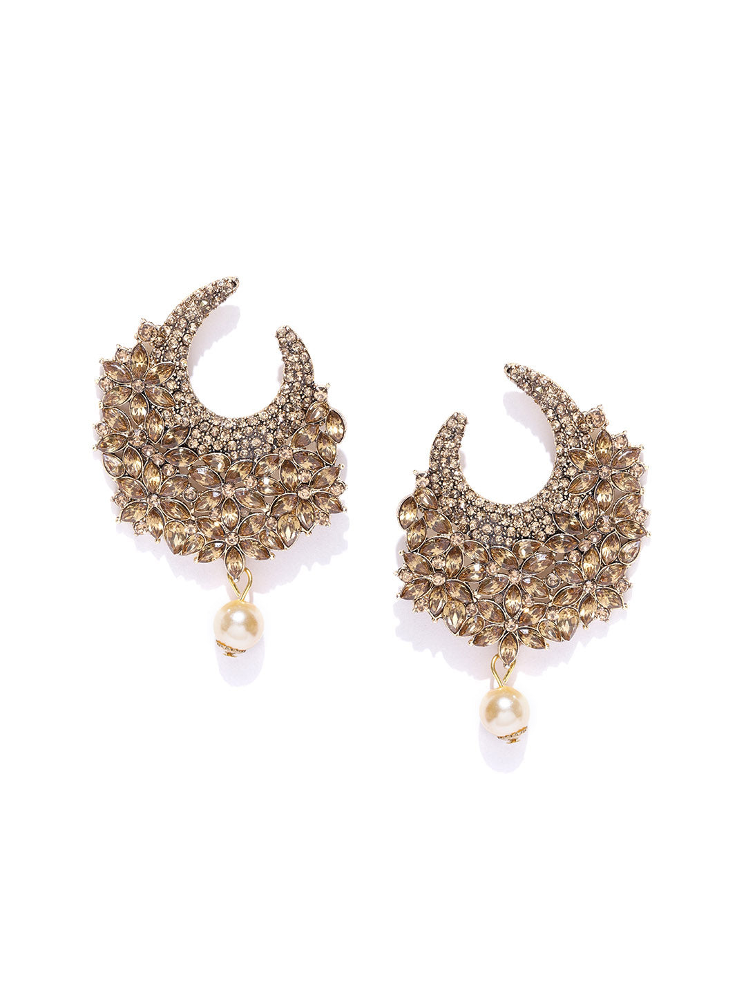 Asmitta Jewellery Gold Zinc Dangle Earring - ED748