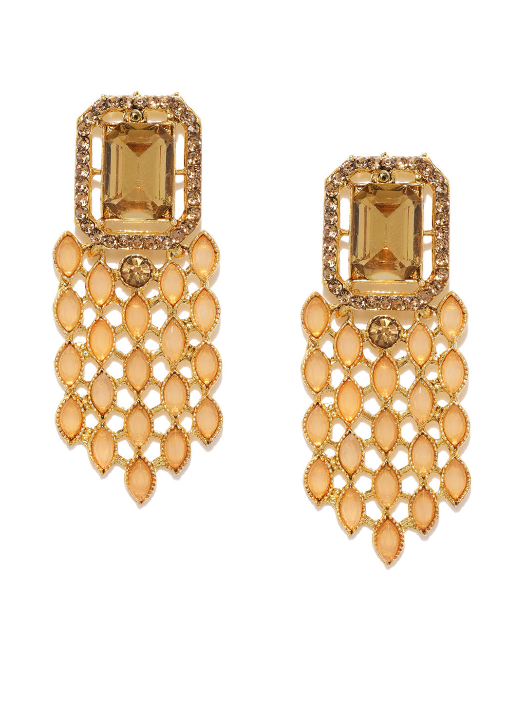 Asmitta Jewellery Gold Zinc Dangle Earring - ED749