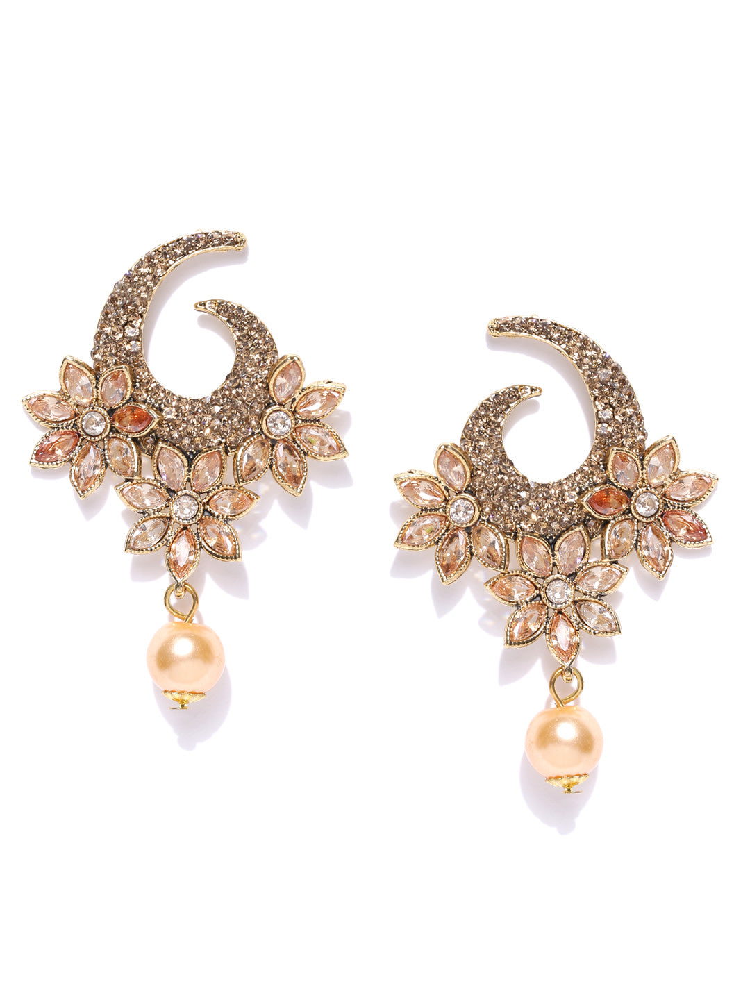 Asmitta Jewellery Gold Zinc Dangle Earring - ED752