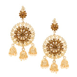 ASMITTA JEWELLERY GOLD ZINC DANGLE EARRING - ED755