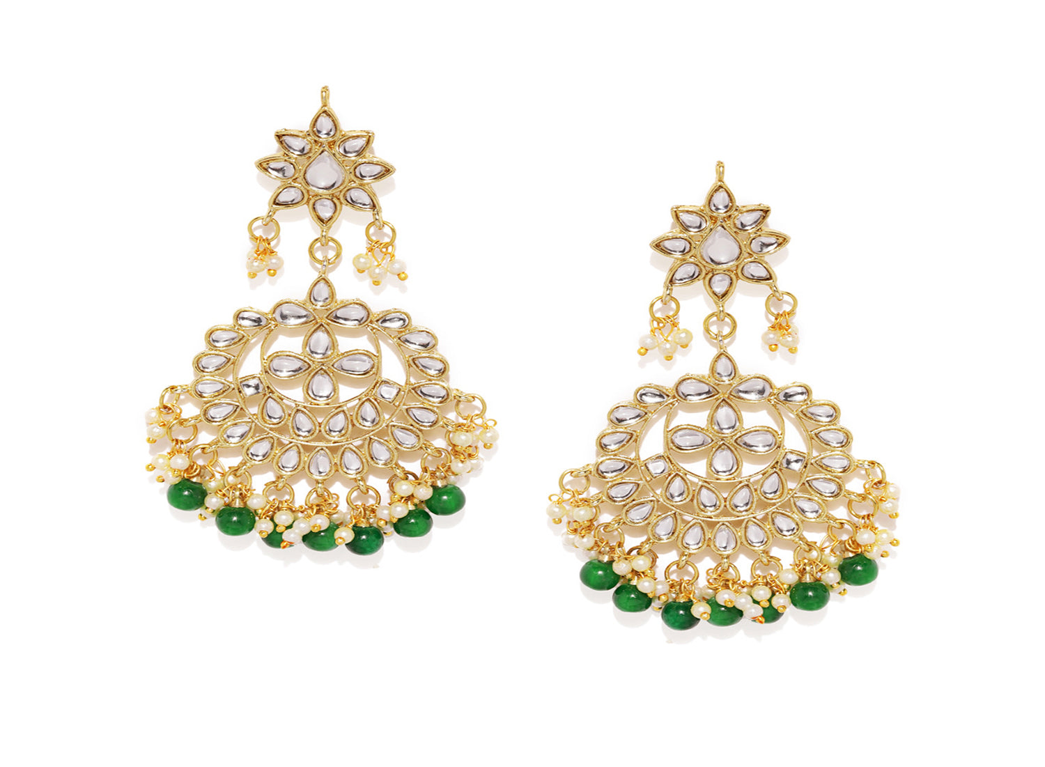 Asmitta Jewellery Green Zinc Dangle Earring - ED763